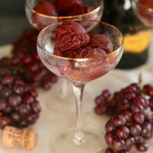 Roasted Grape Sorbet